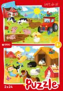 Farm animals - puzzel 2 x 24 st