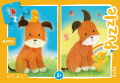 Dog and duckling - puzzel 2 x 24 st