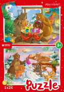 Christmas bears - puzzel 2 x 24 st