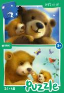 Bear family - puzzel 24 + 48 st