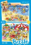 Beach and circus-puzzel 24 + 48 st