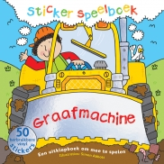 Stickerspeelboek Graafmachine