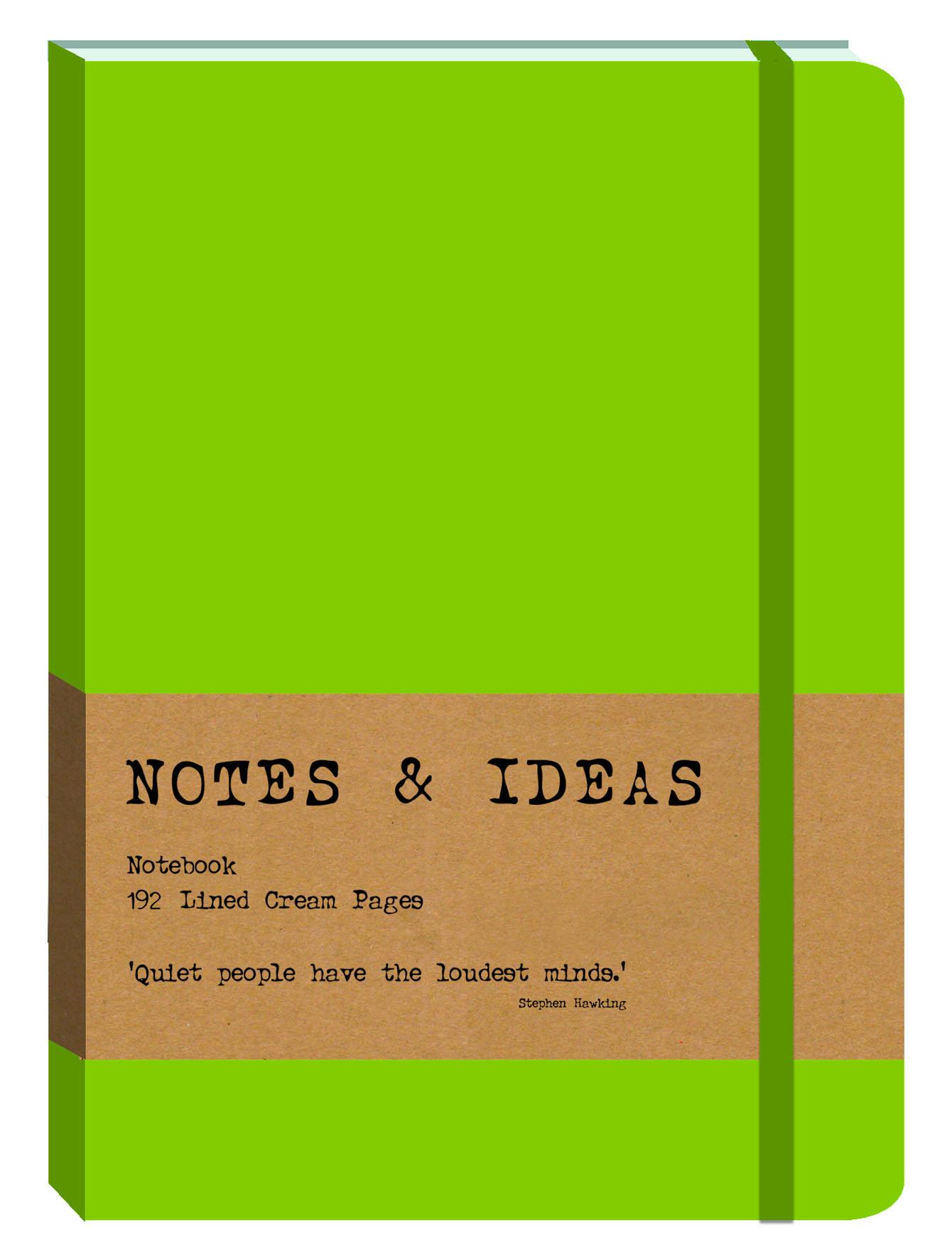 PU Journal large-NB Lime green