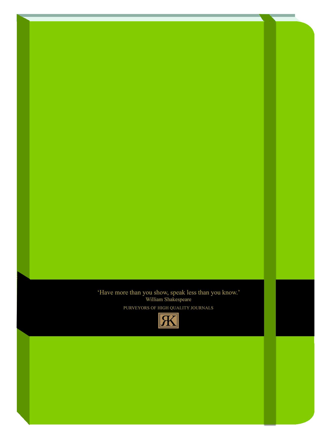 PU Journal large-NB Lime green (bb)