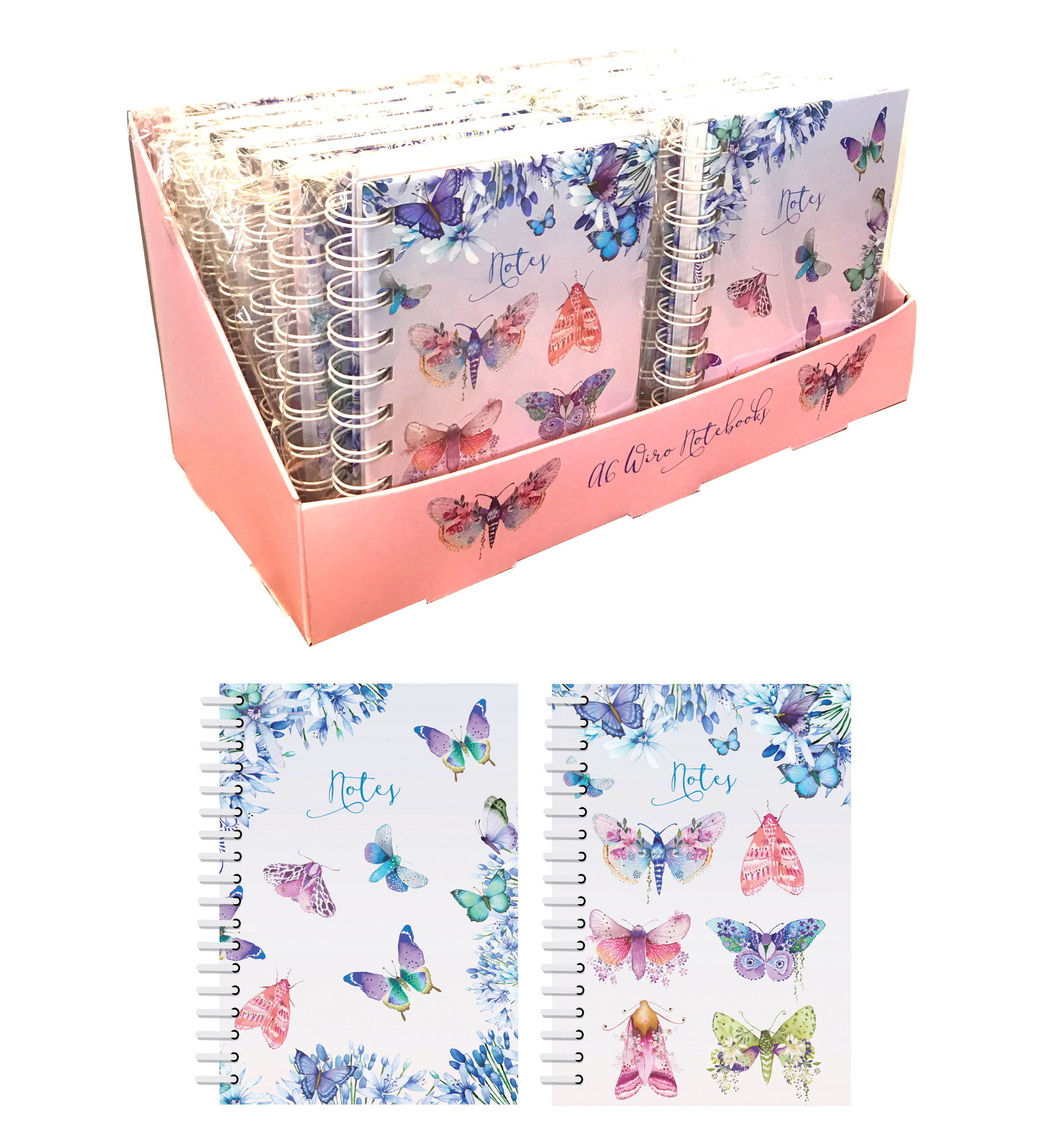 Butterflies-display A6 wiro NB
