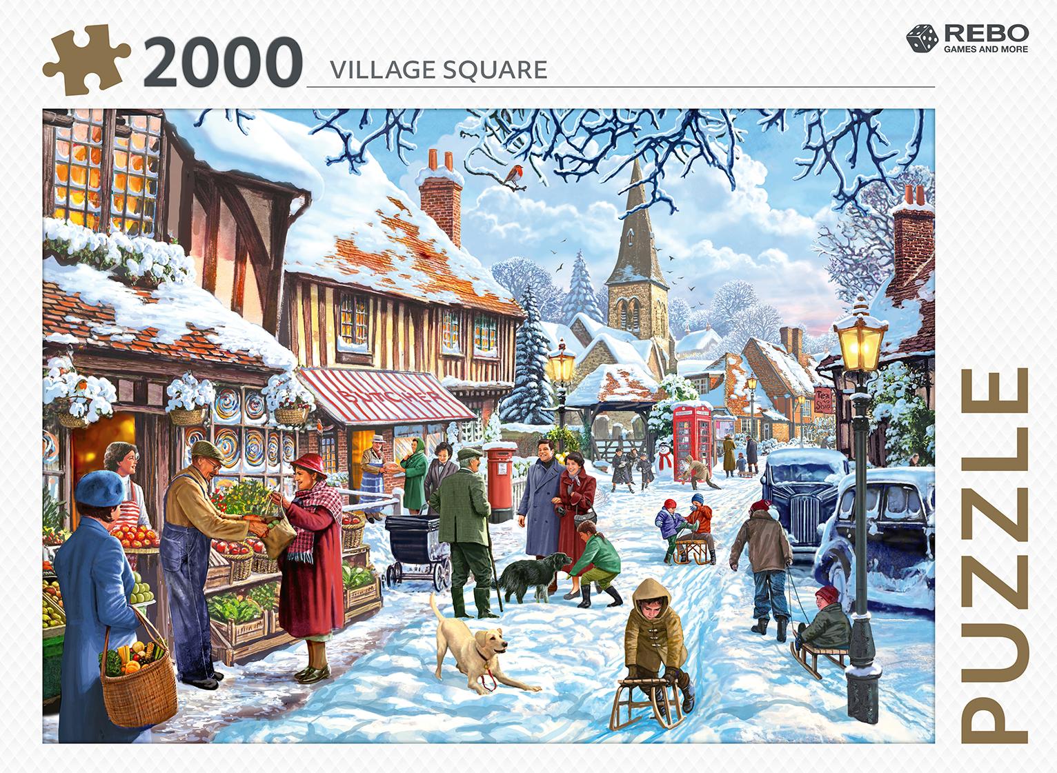 Village square - puzzel 2000 st
