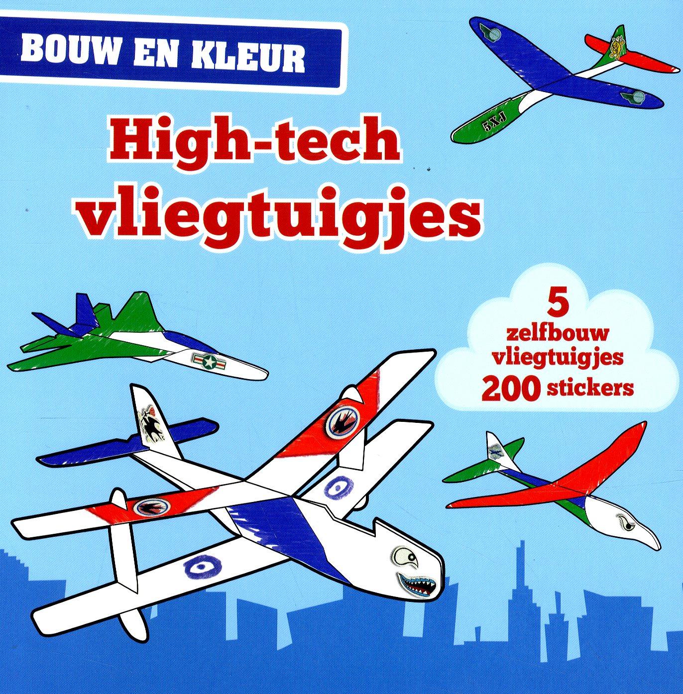 Bouw en kleur High-tech vliegt.