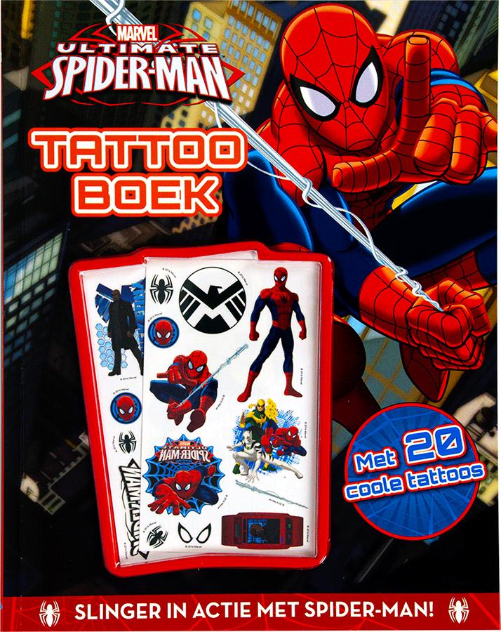 Marvel Spider-man Tattooboek+20tatt