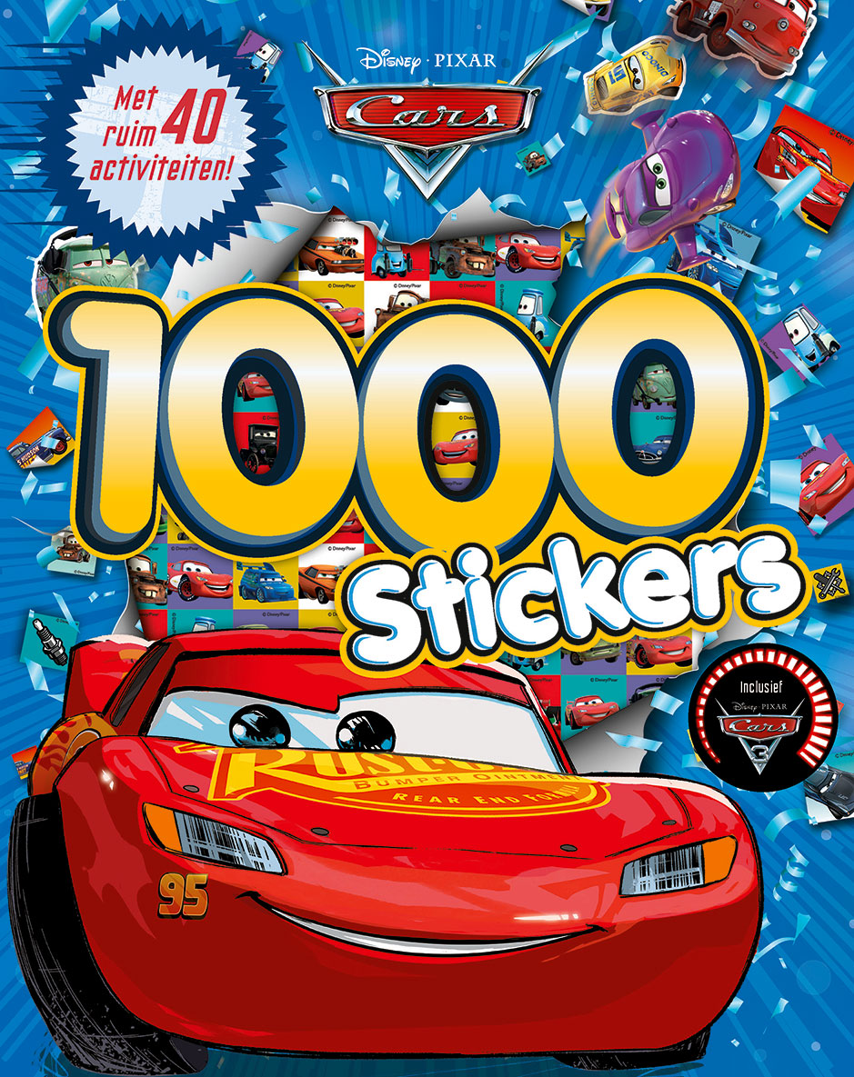 Disney Pixar Cars 3 1000 stickers