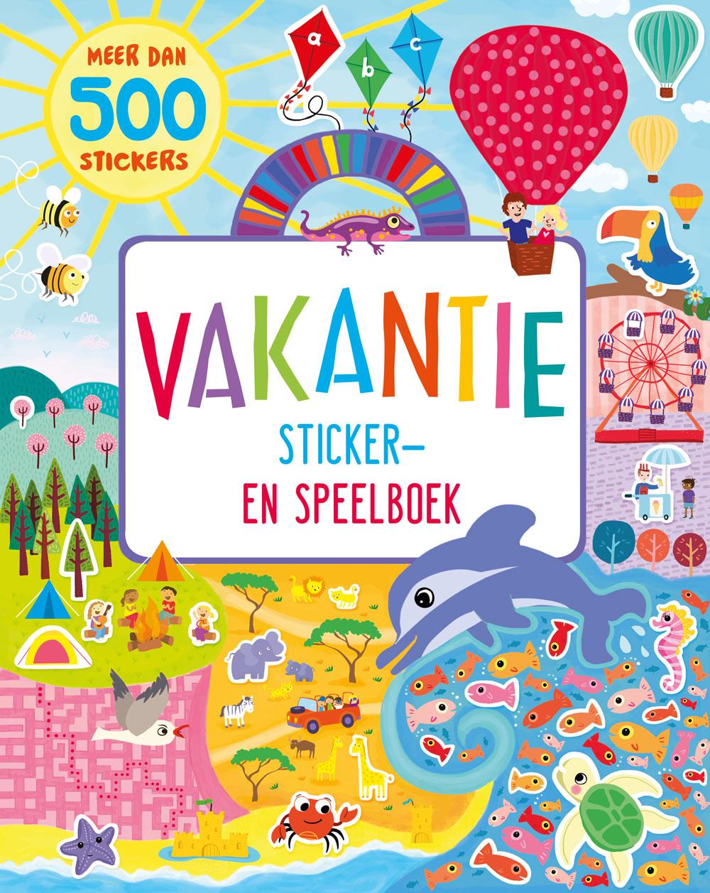 Vakantie sticker- en speelboek