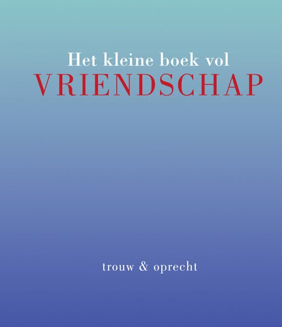 Kleine boek vol Vriendschap