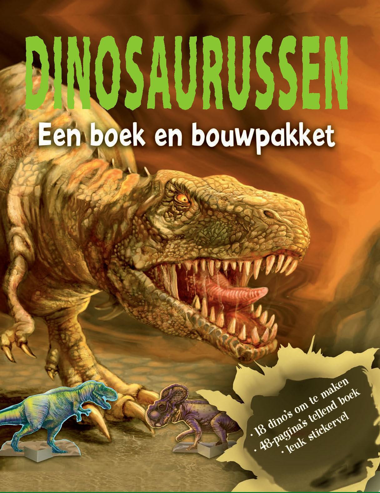 Dinosaurussen, boek+bouwpakket