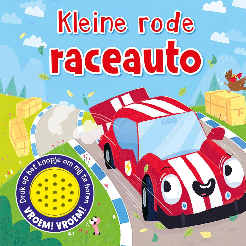 1 geluid Kleine rode raceauto