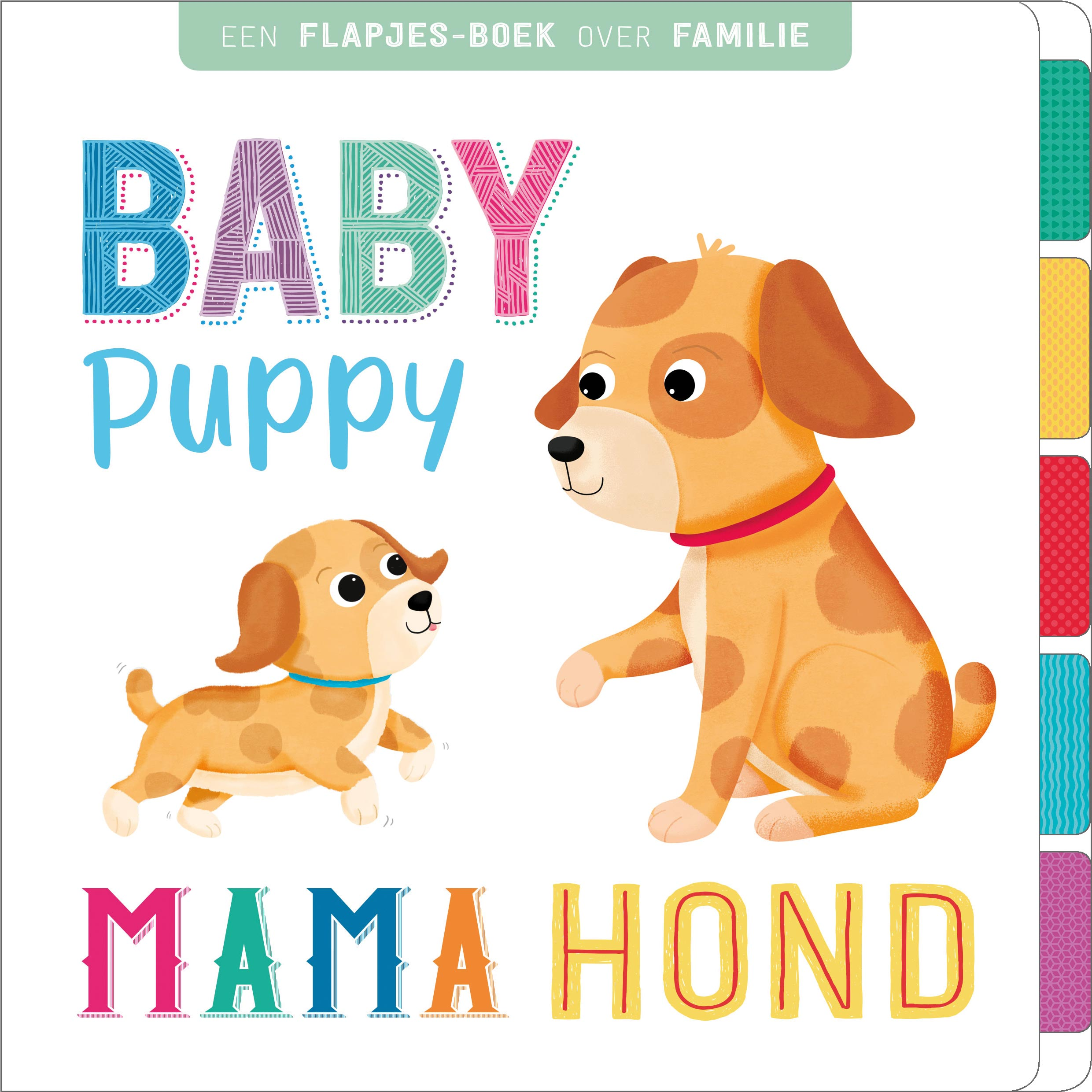Baby puppy, mama hond - flap