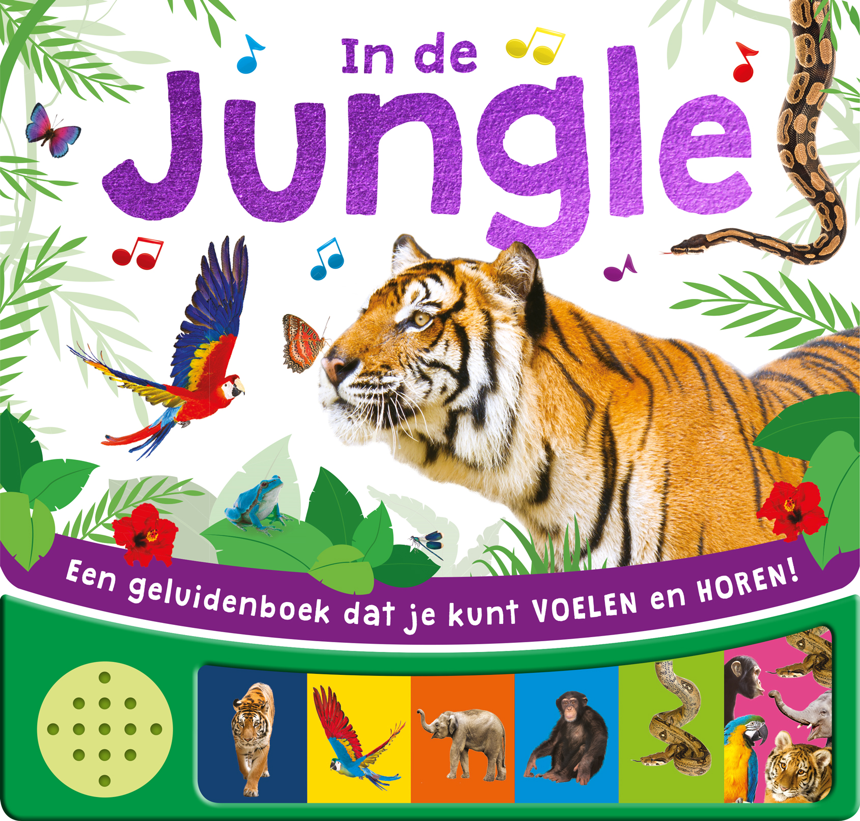 In the Jungle - voel geluidenboek