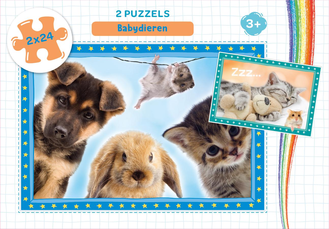 Babydieren - puzzel 2 x 24 st
