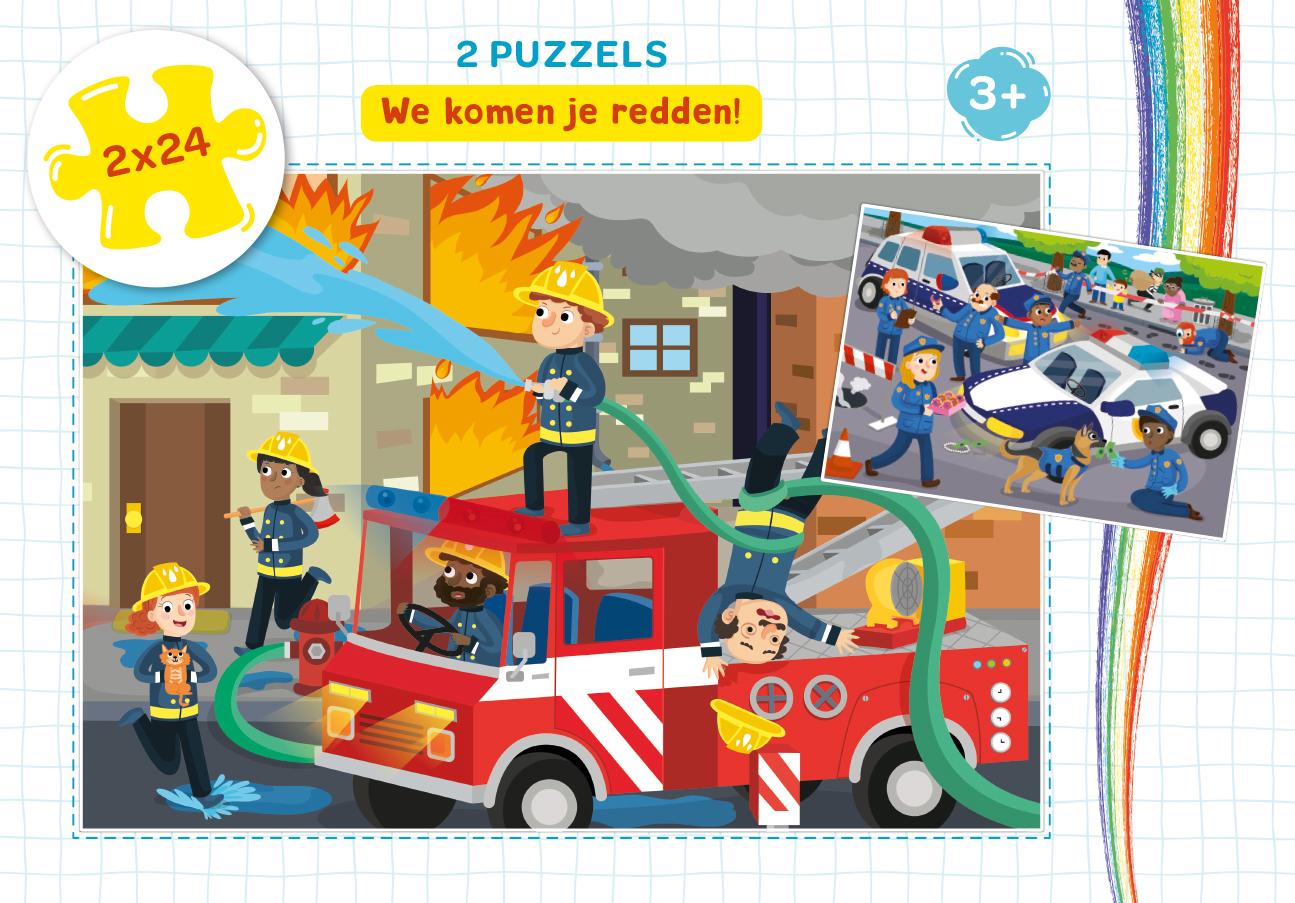 We komen je redden! - puzzel 2 x 24