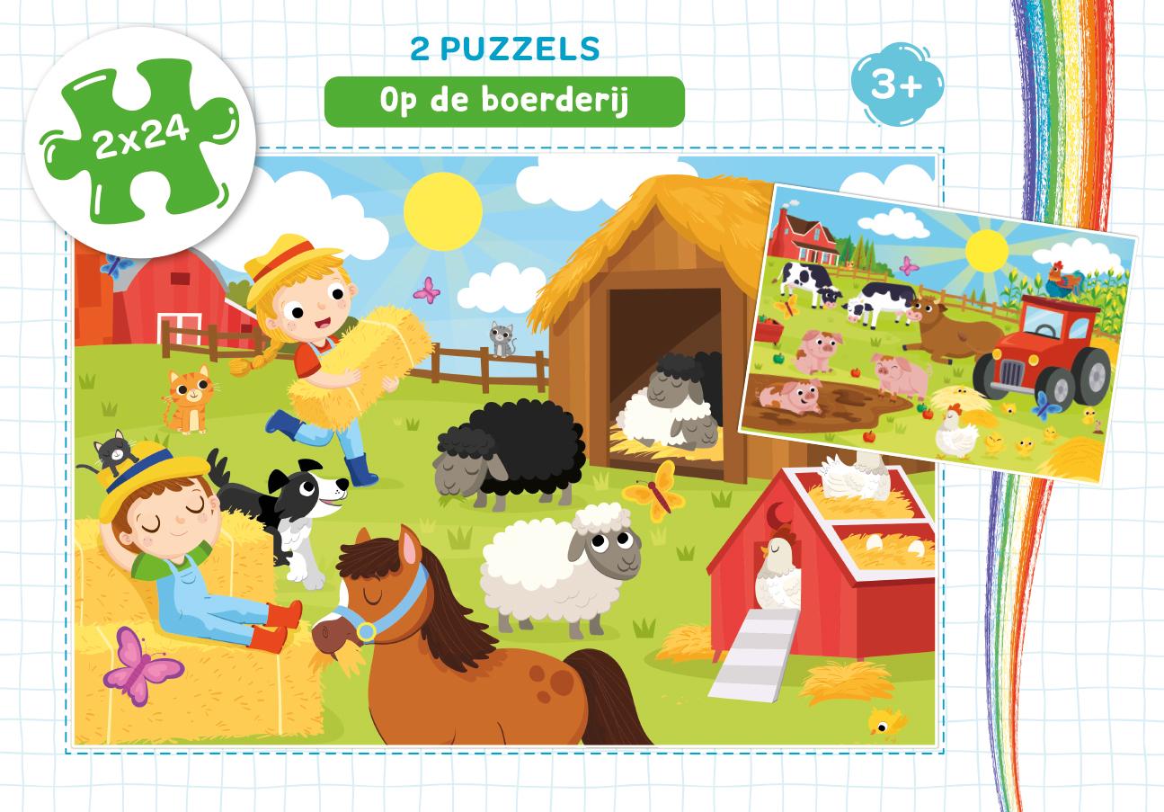 Op de Boerderij - puzzel 2 x 24 st