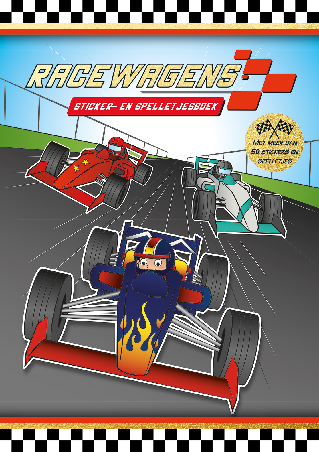 Racewagen - sticker|spelletjesboek