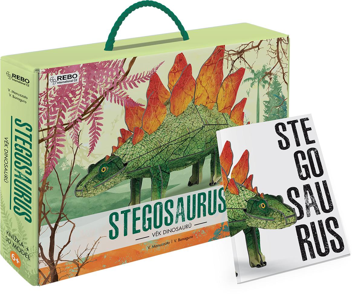 Stegosaurus Boek + 3D model
