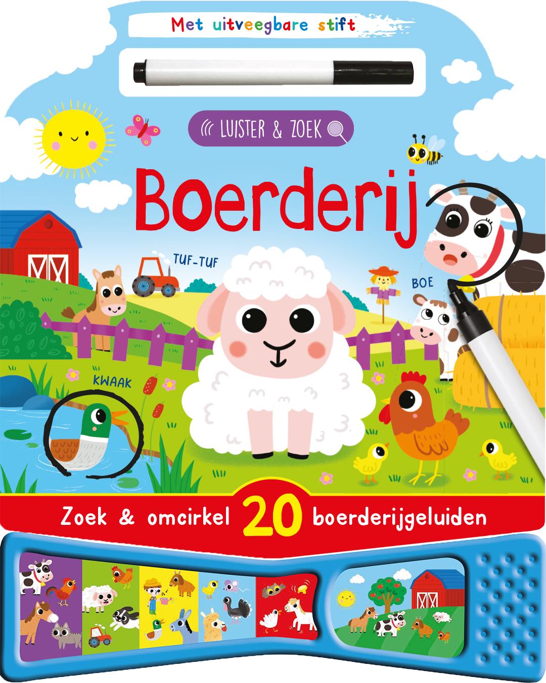 Geluidenboek Boerderij luister&zoek
