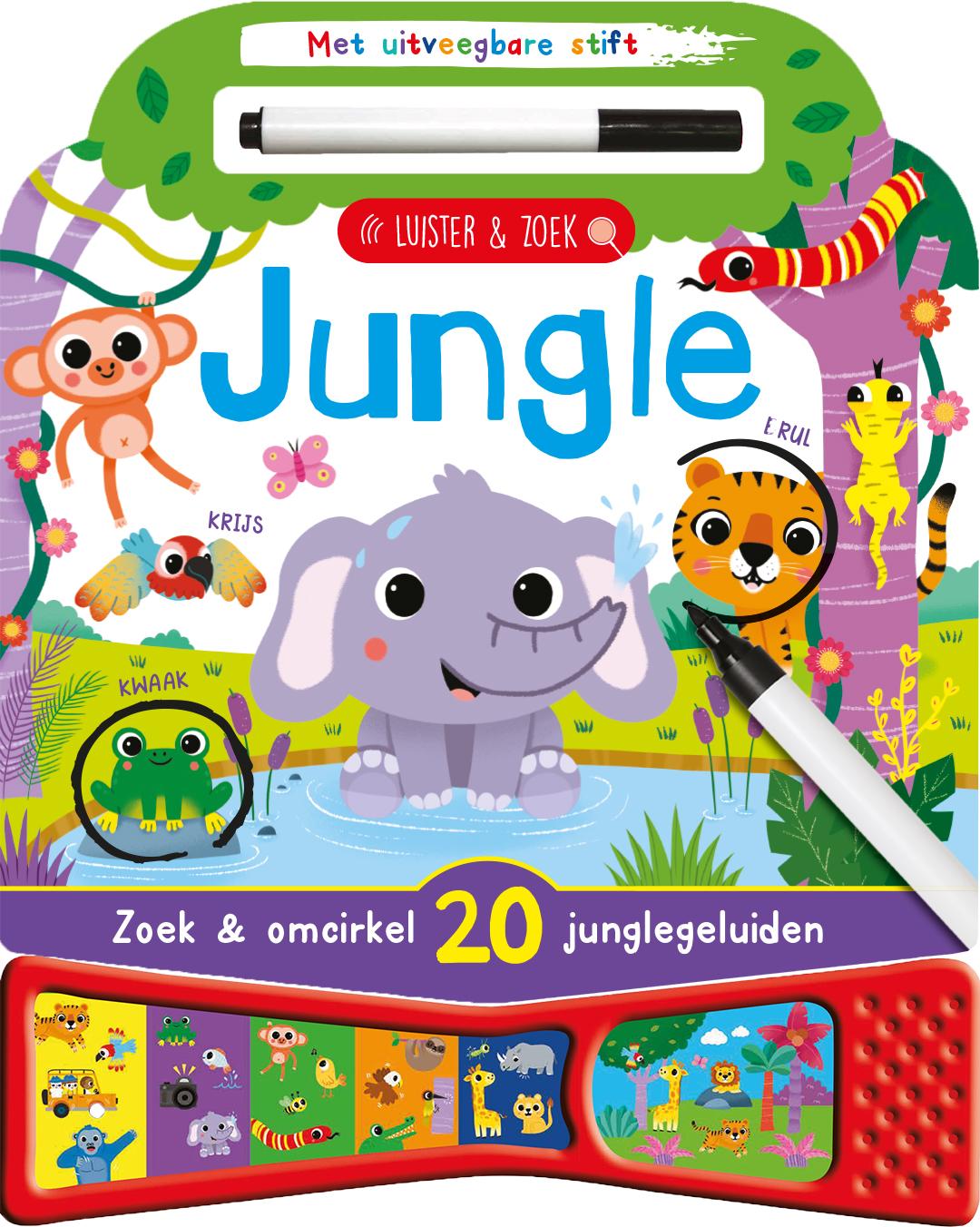 Geluidenboek Jungle - zoek en vind