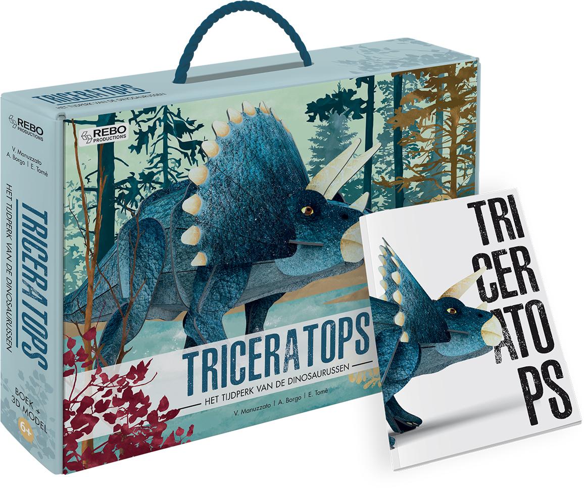 Triceratops - Boek + 3D-model