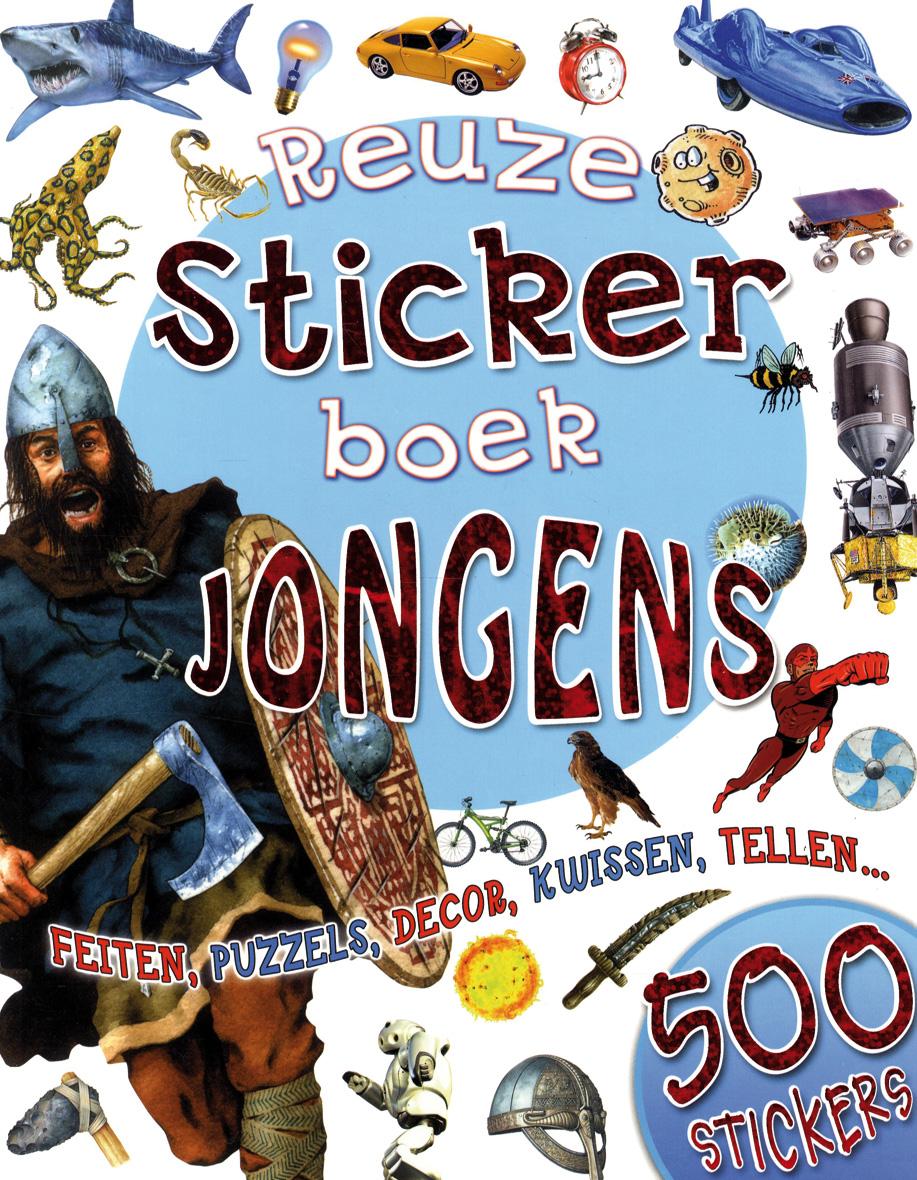 Reuzestickerboek jongens