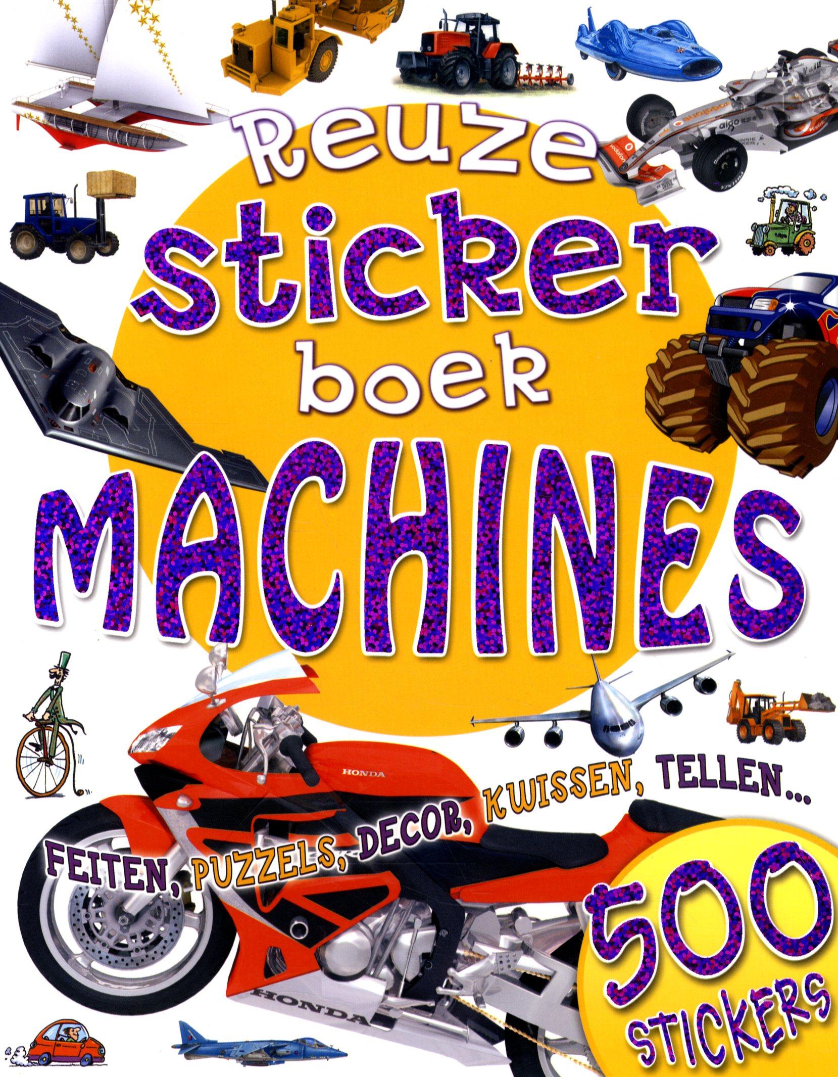 Reuzestickerboek machines
