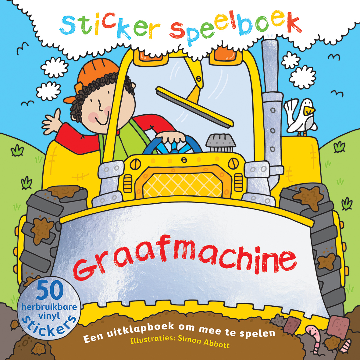 Stickerspeelboek Graafmachine